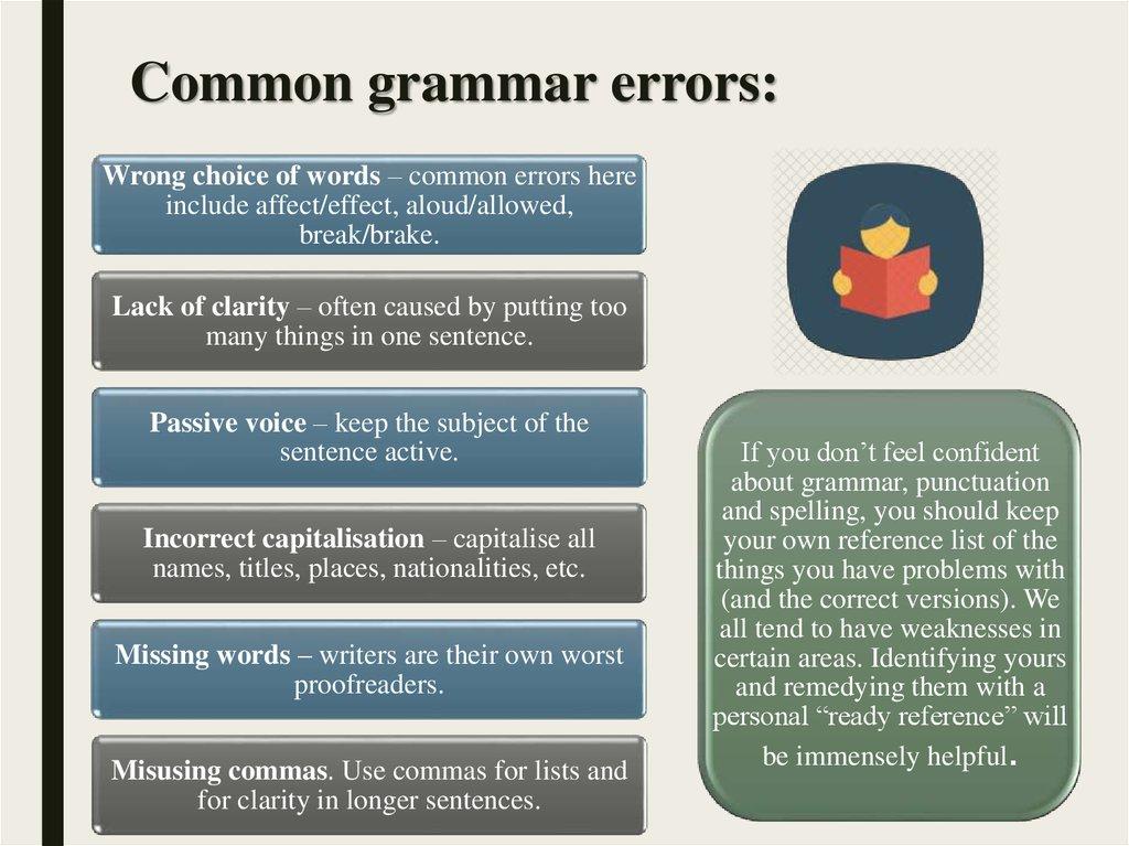 how to correct grammar errors