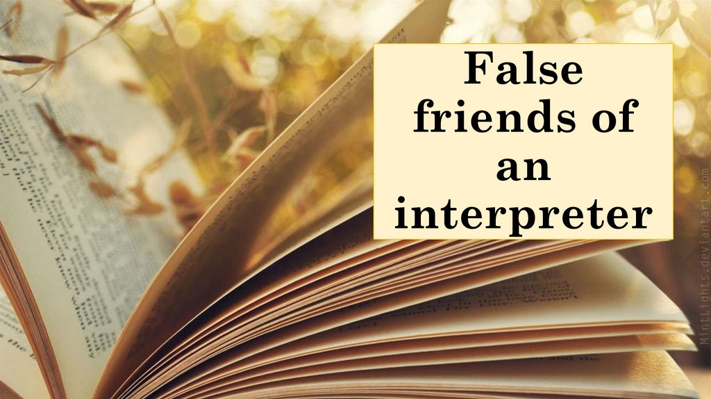 False friends of an interpreter
