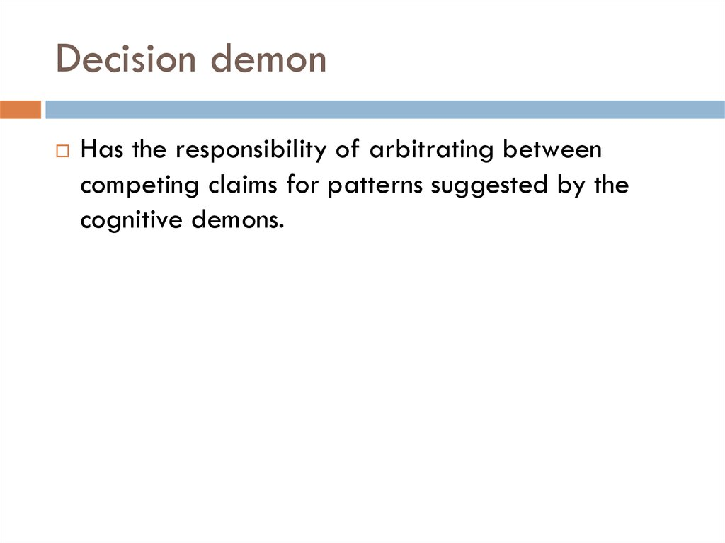 Decision demon