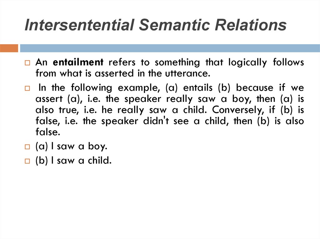 Intersentential Semantic Relations