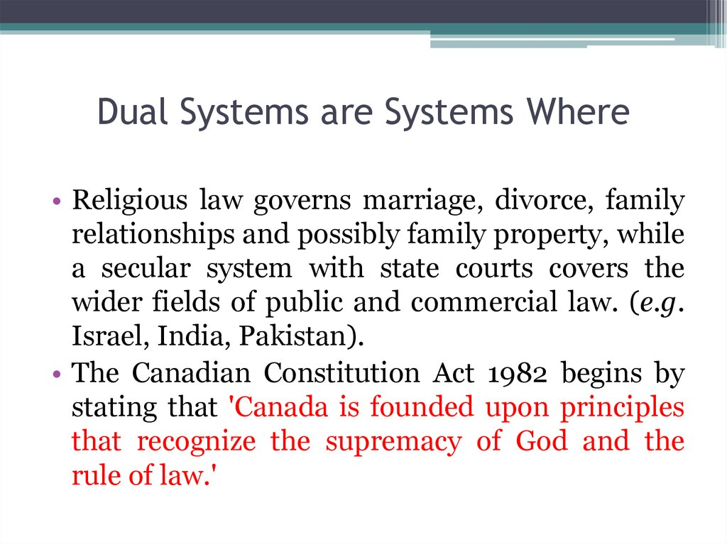 Dual Systems are Systems Where