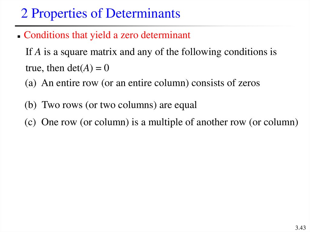 2 Properties of Determinants