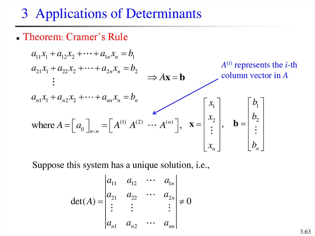 3 Applications of Determinants
