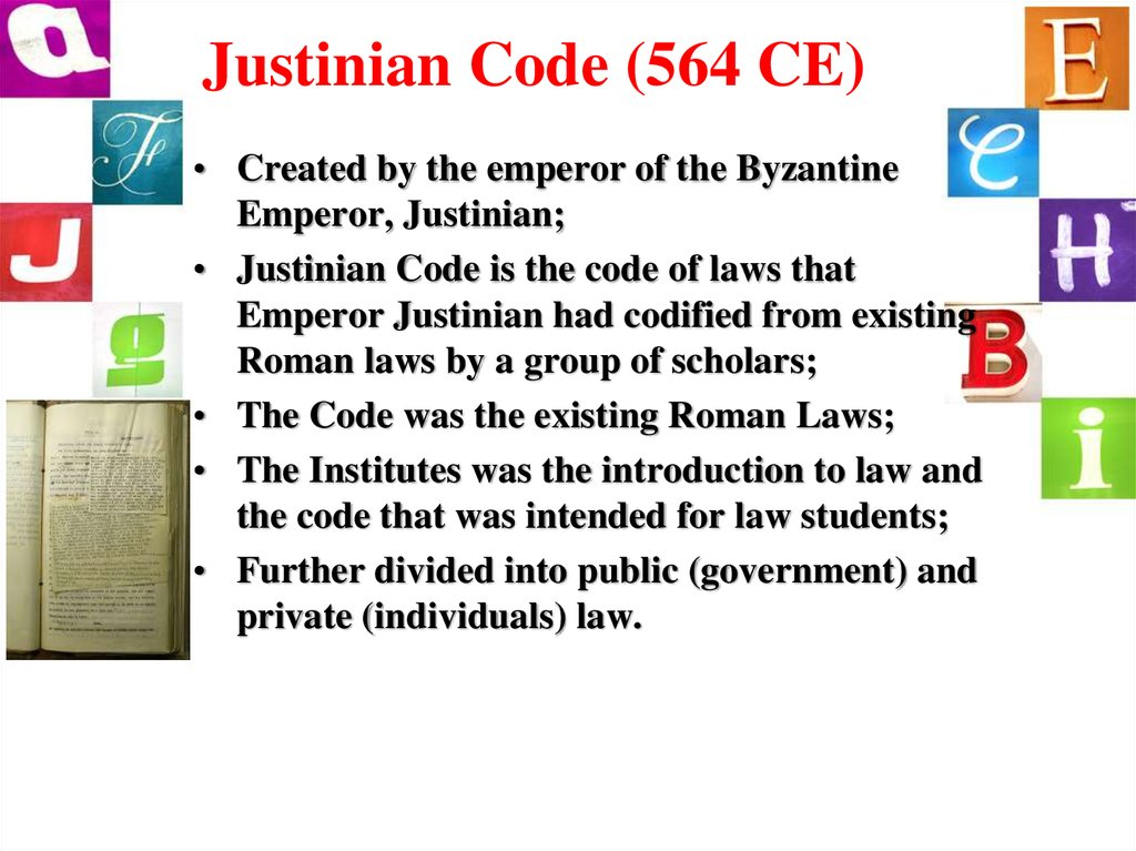 Justinian Code (564 CE)