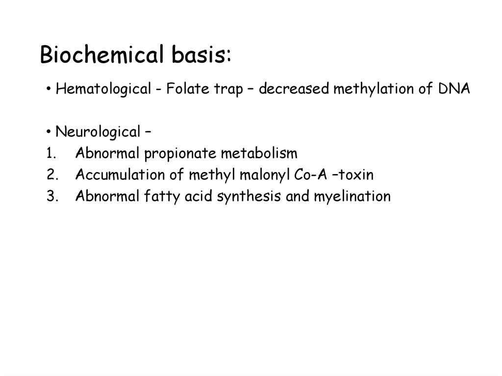 Biochemical basis: