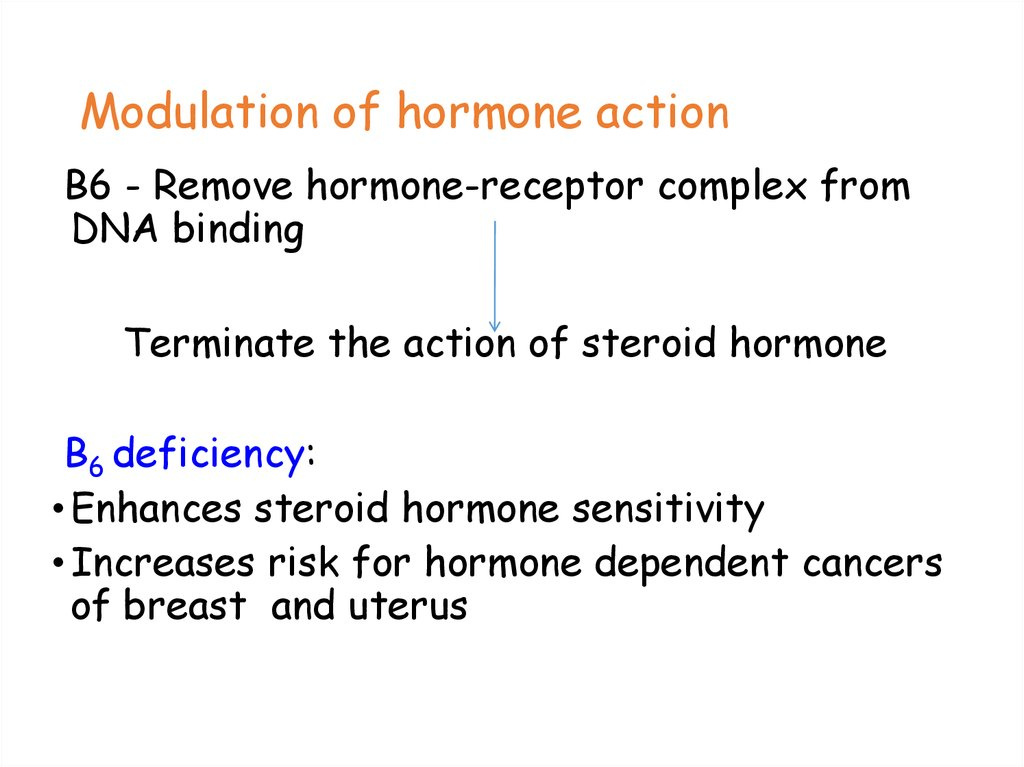 Modulation of hormone action