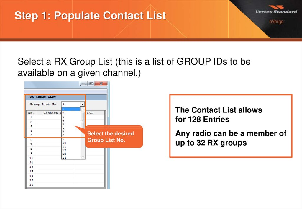 Step 1: Populate Contact List