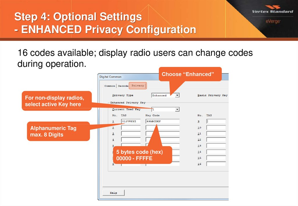 Step 4: Optional Settings - ENHANCED Privacy Configuration