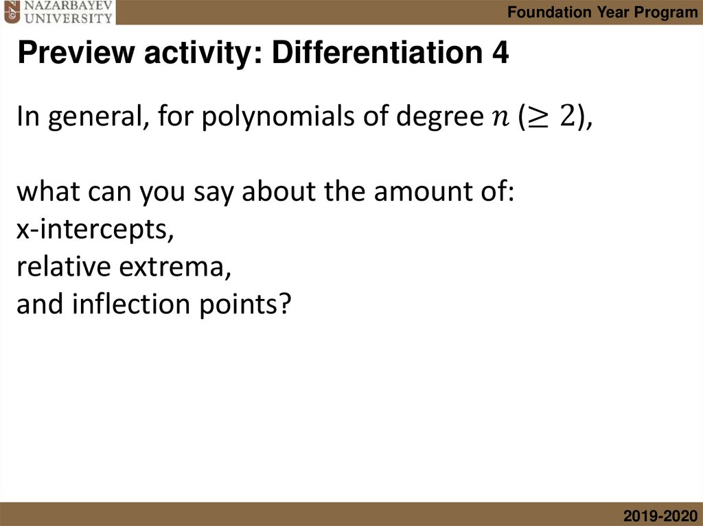 Preview activity: Differentiation 4