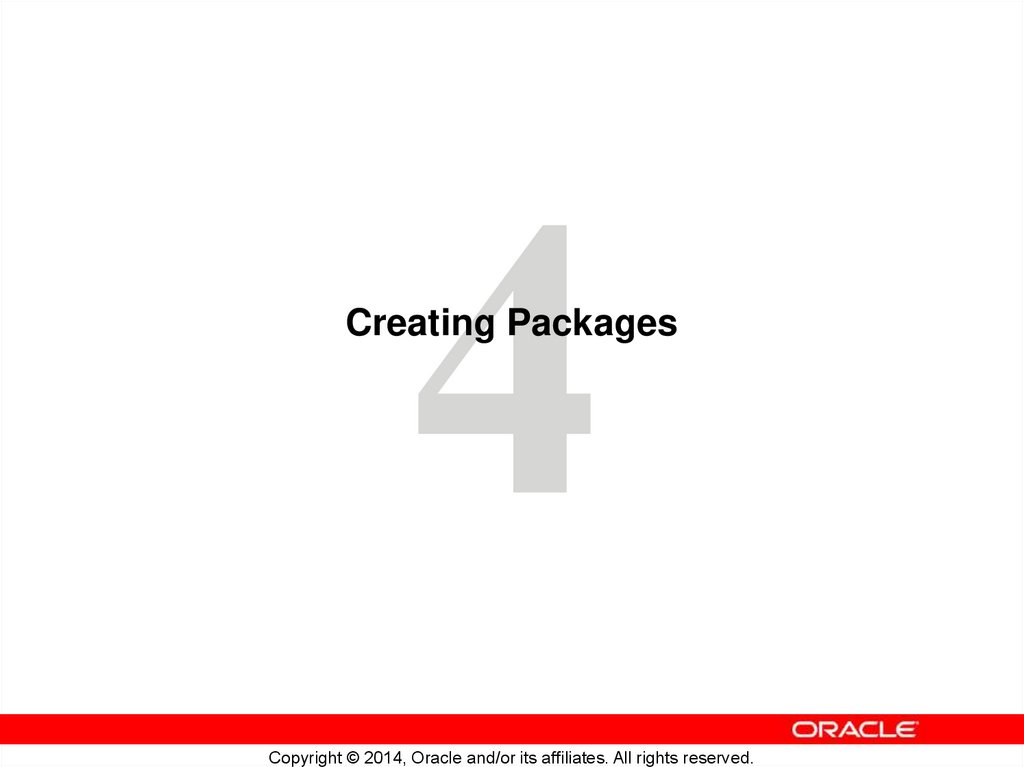 Creating Packages