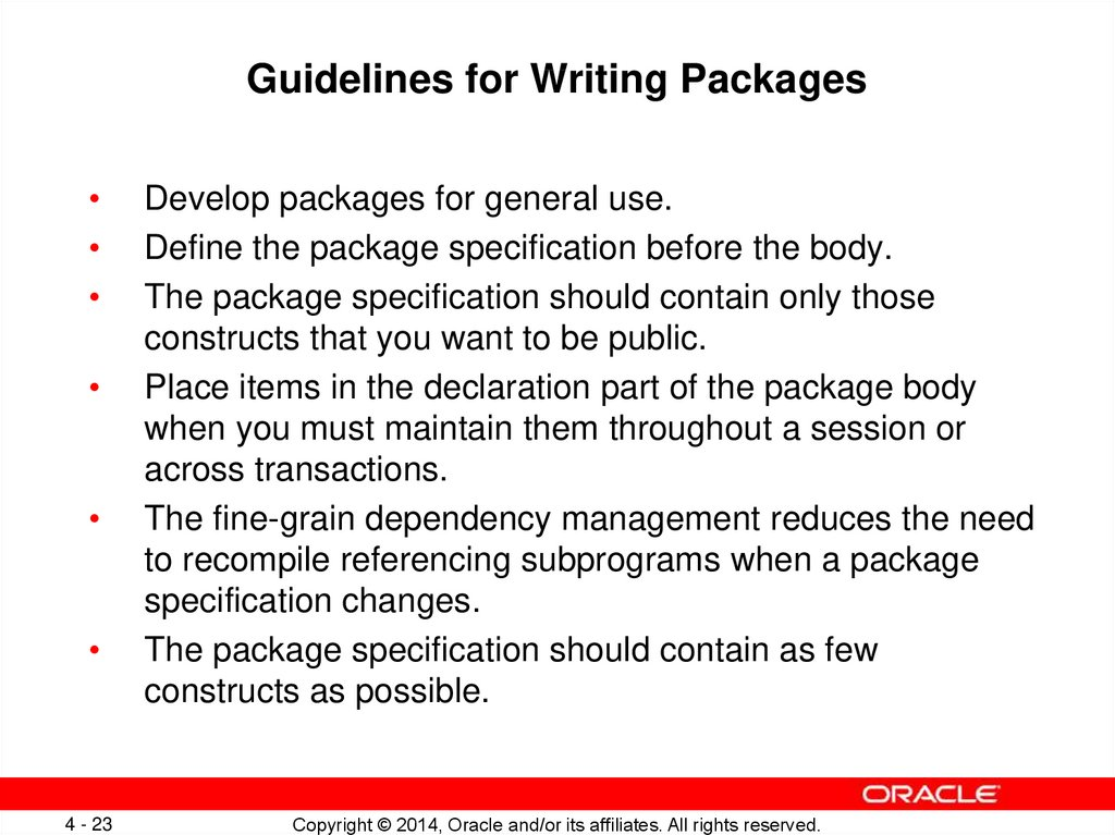 Guidelines for Writing Packages