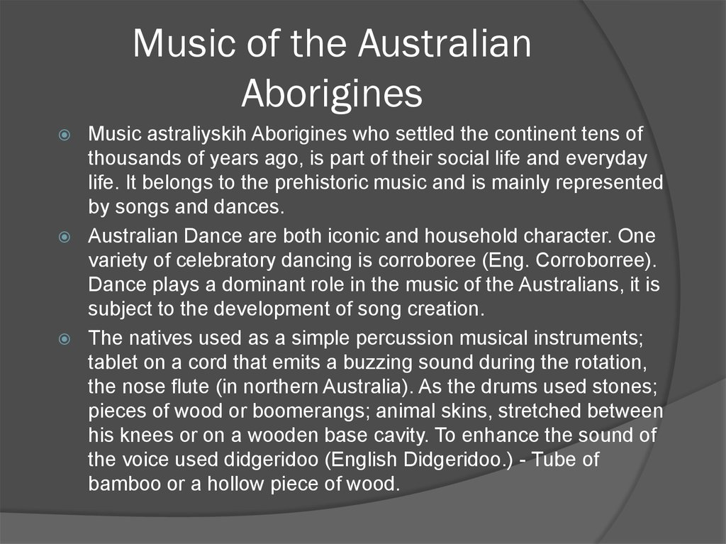 Music of the Australian Aborigines