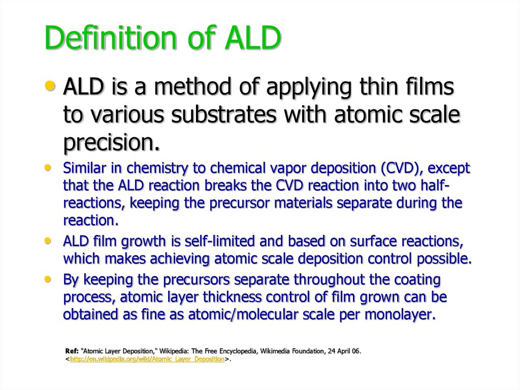Definition of ALD