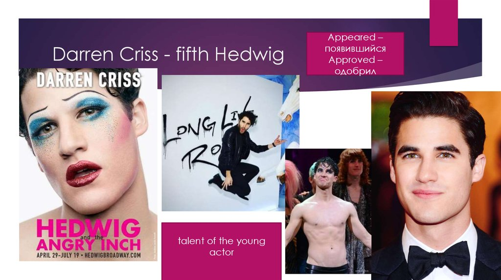 Darren Criss - fifth Hedwig