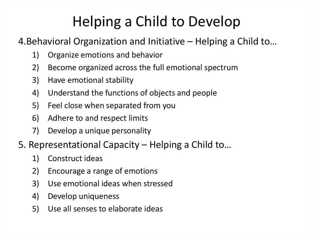 Helping a Child to Develop