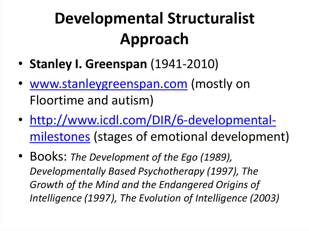 Developmental Structuralist Approach