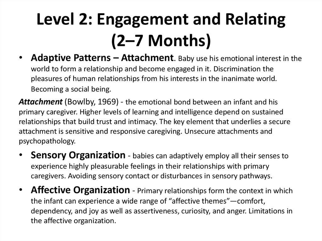 Level 2: Engagement and Relating (2–7 Months)