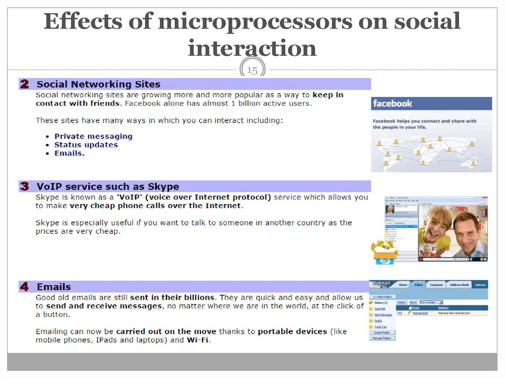 Effects of microprocessors on social interaction