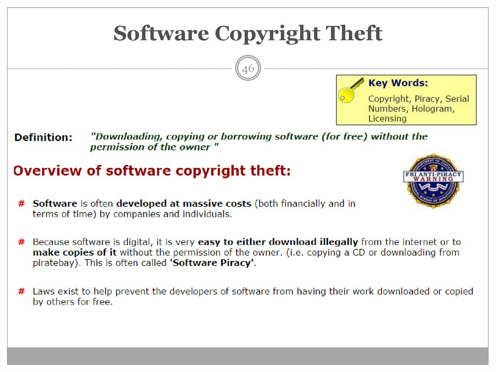 Software Copyright Theft