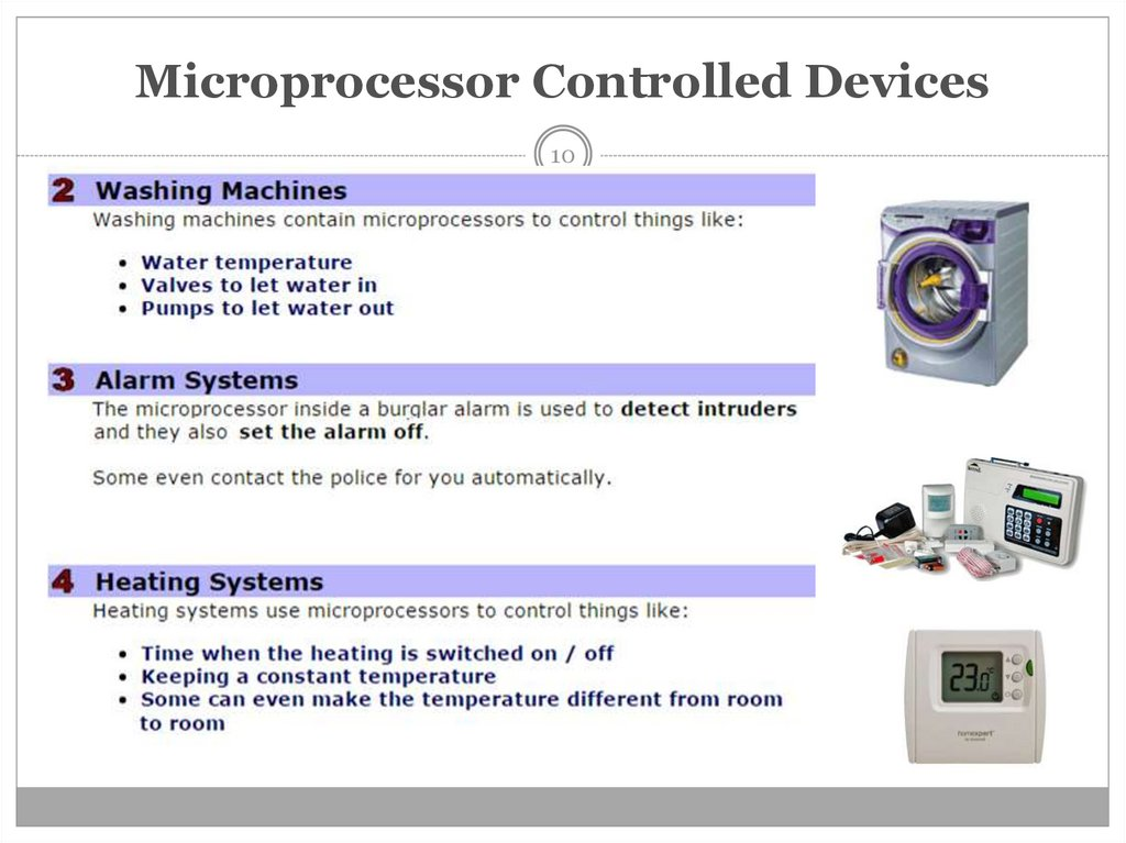 Microprocessor Controlled Devices