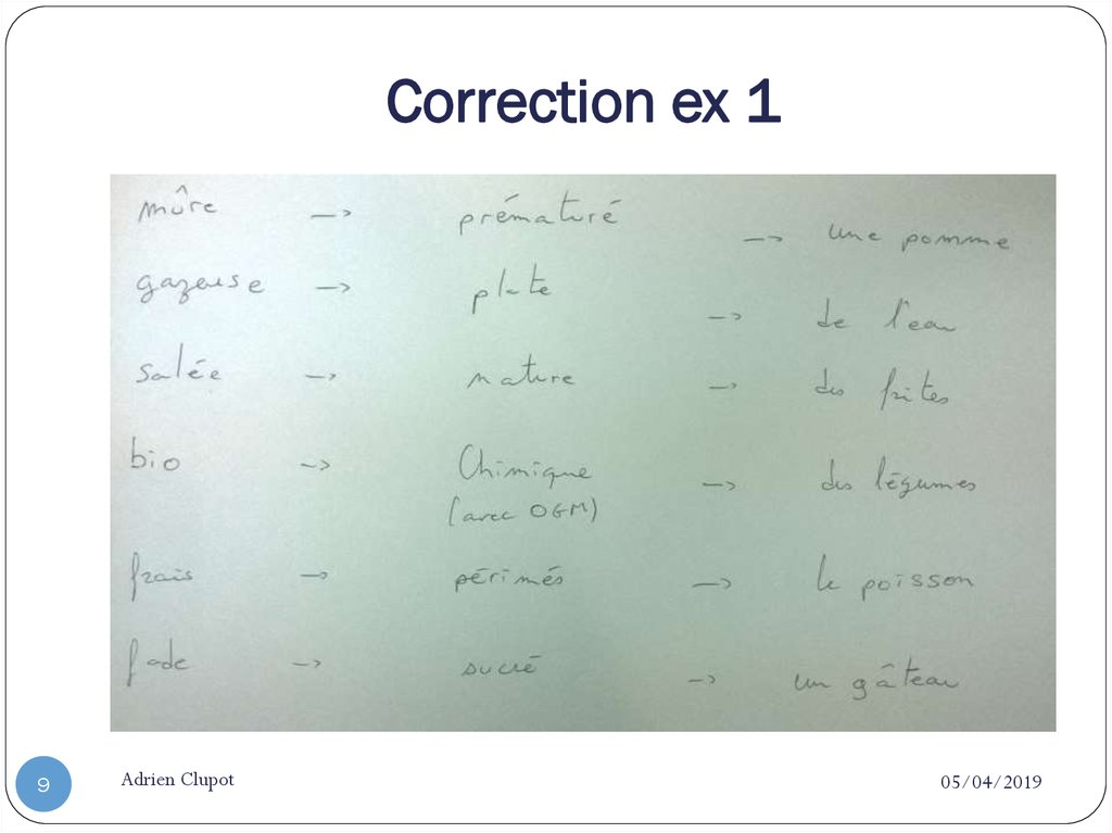 Correction ex 1