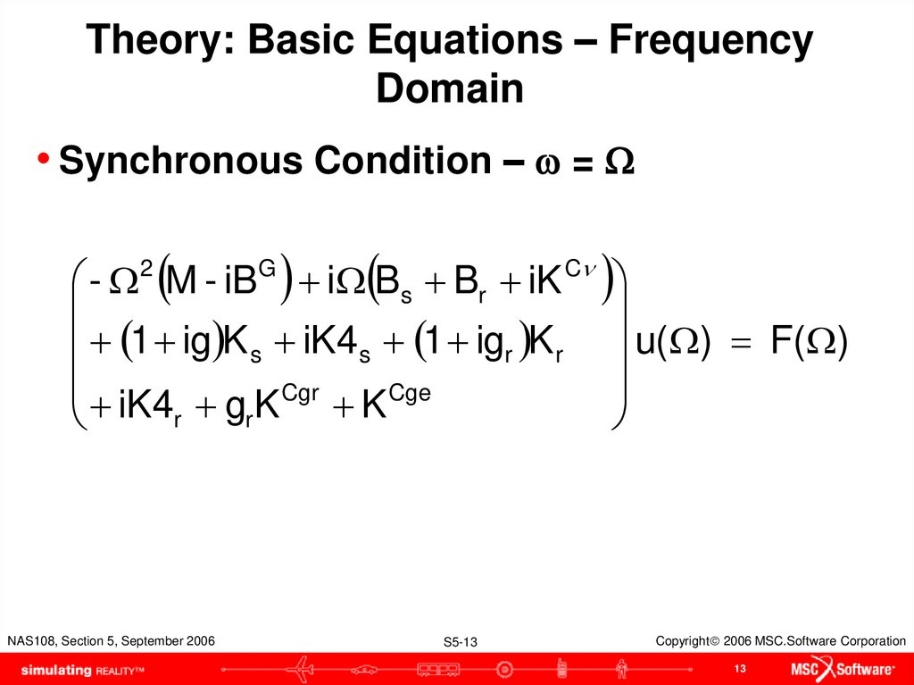Theory: Basic Equations – Frequency Domain
