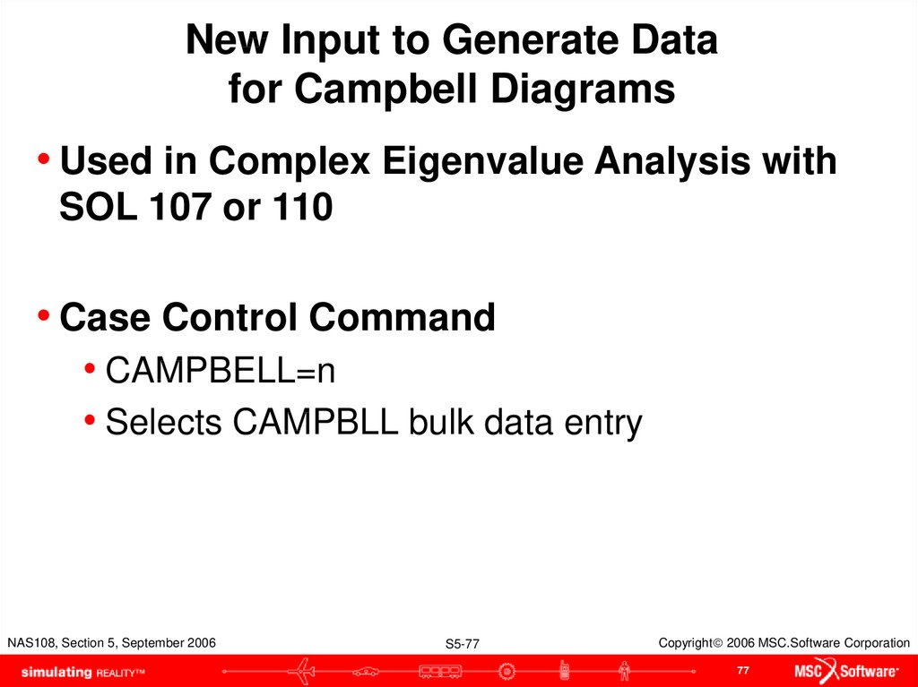 New Input to Generate Data for Campbell Diagrams