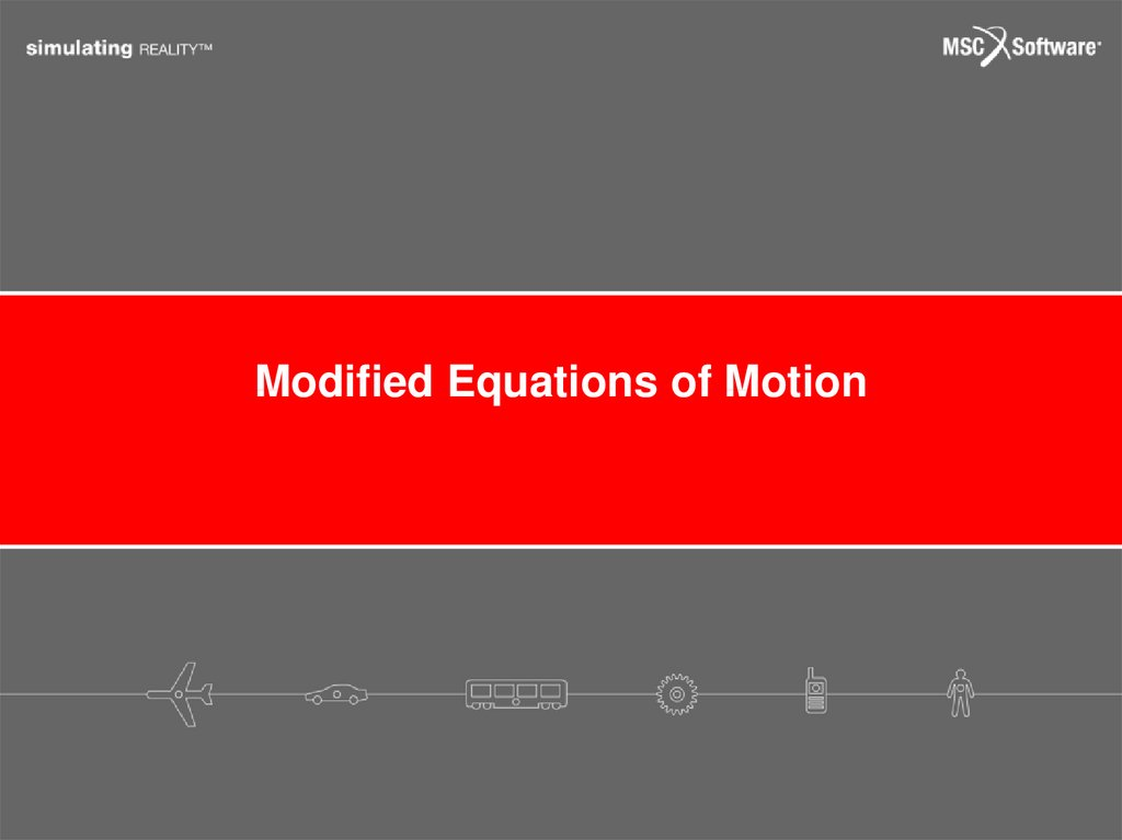 Modified Equations of Motion