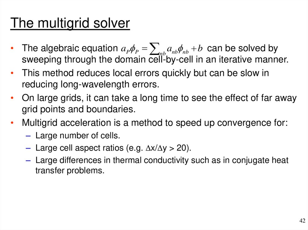 Finite volume solution methods