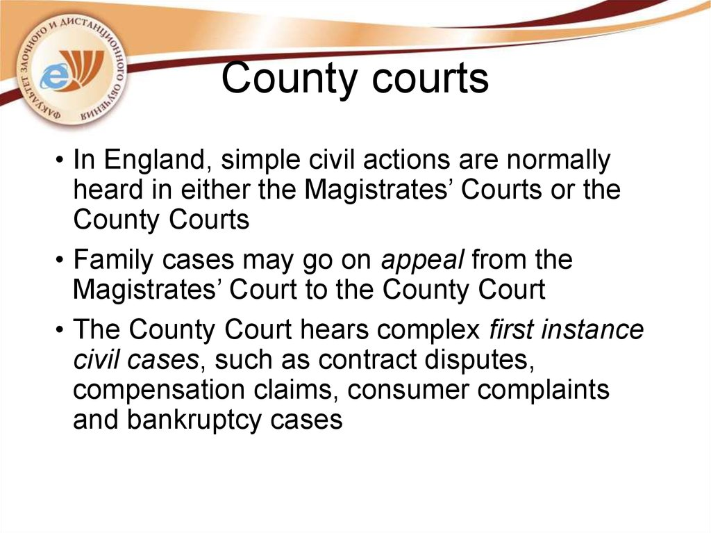 County courts