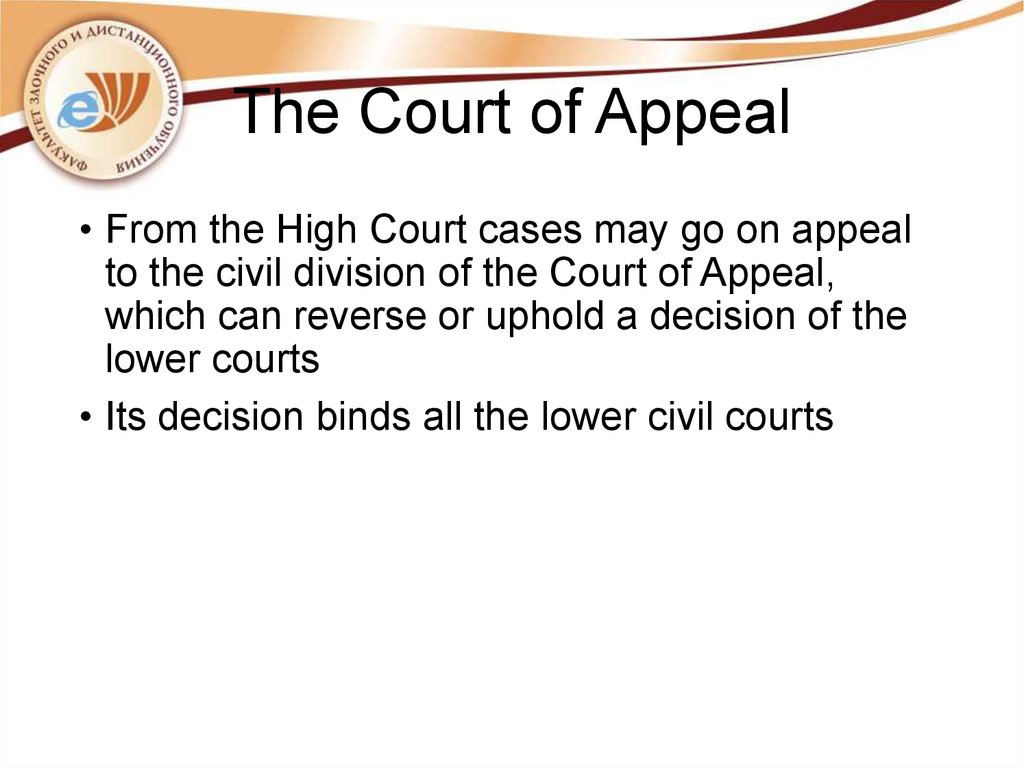 The Court of Appeal