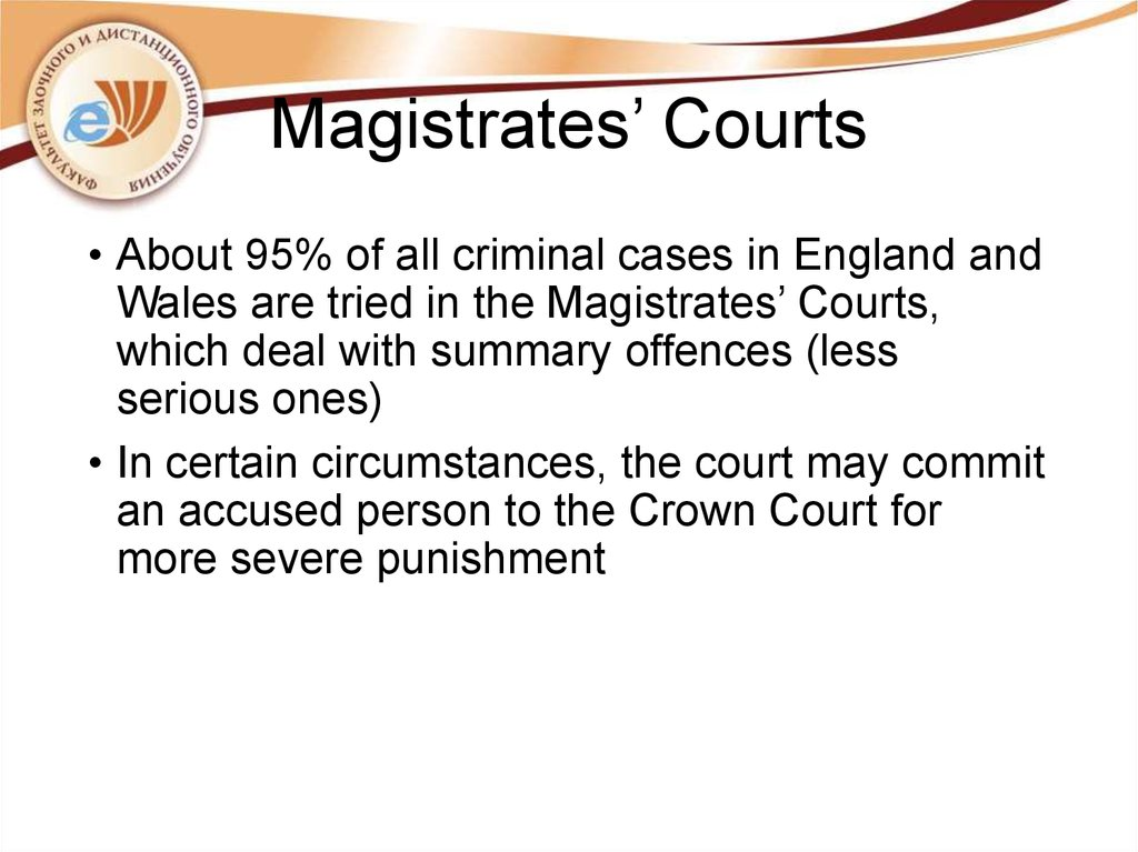 Magistrates' Courts