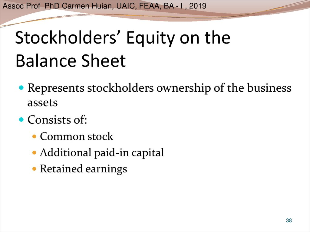 Stockholders' Equity on the Balance Sheet