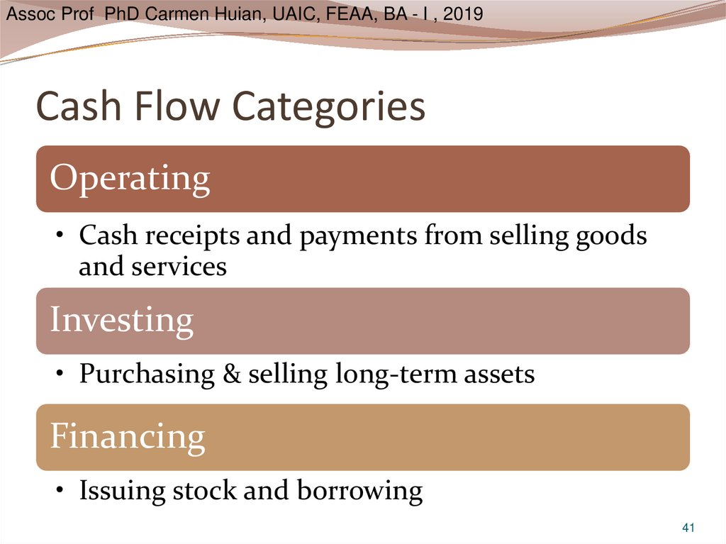 Cash Flow Categories