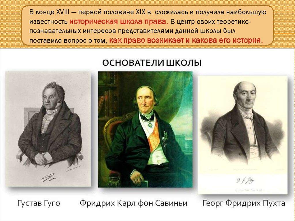 Савиньи историческая школа права