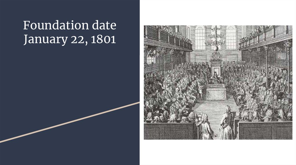 Foundation date January 22, 1801