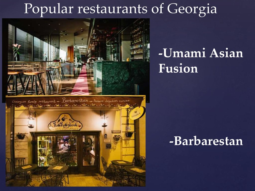 Popular restaurants of Georgia