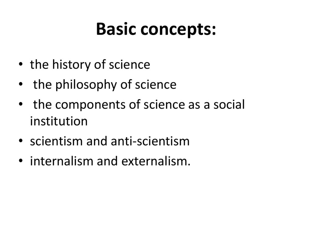 Basic concepts: