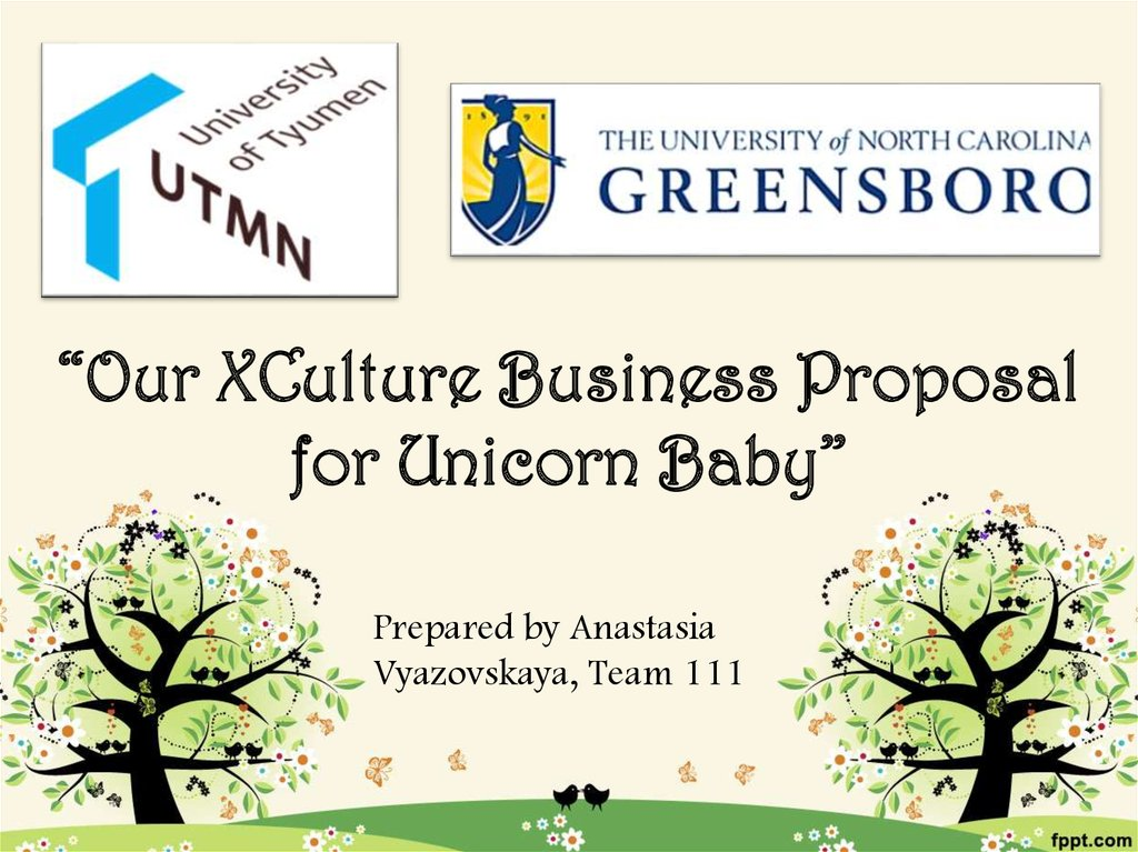 """Our XCulture Business Proposal for Unicorn Baby"""