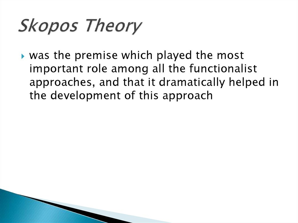 Skopos Theory