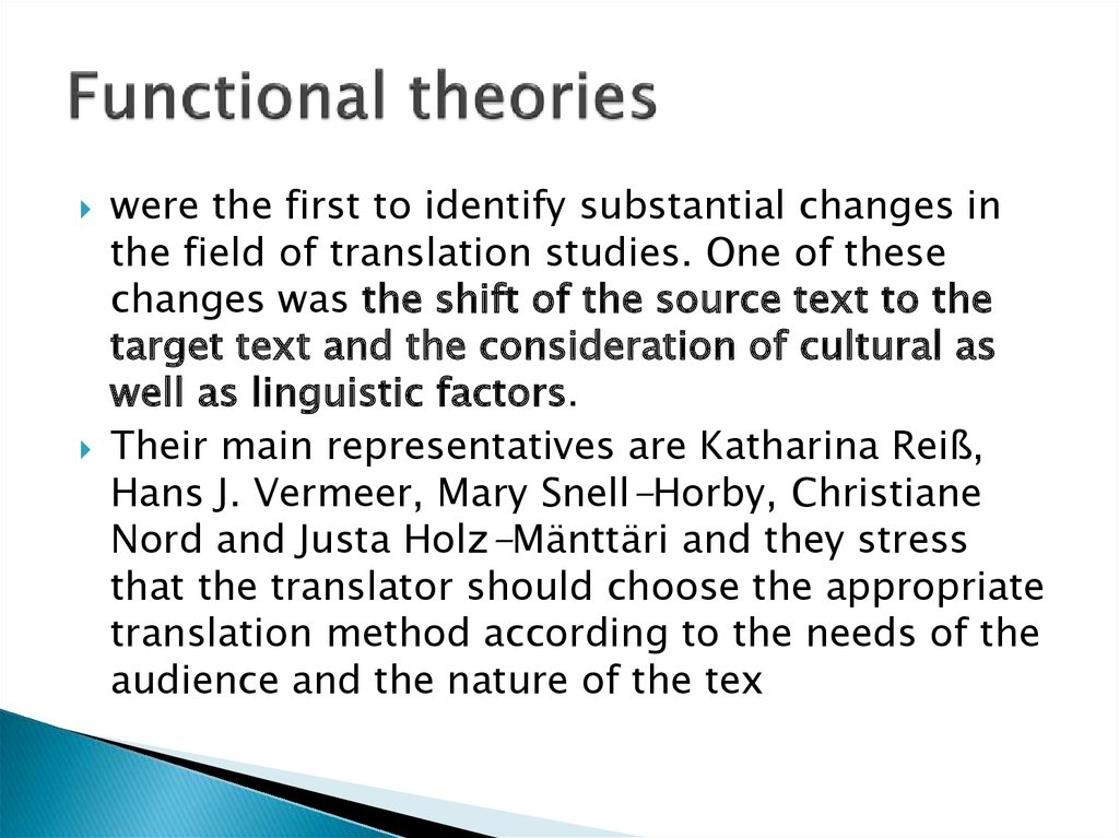 Functional theories