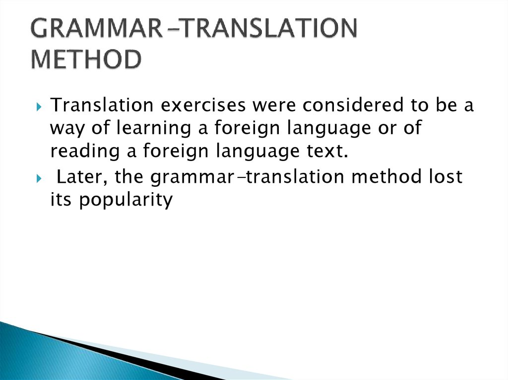 GRAMMAR-TRANSLATION METHOD