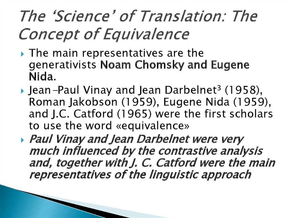 The 'Science' of Translation: The Concept of Equivalence