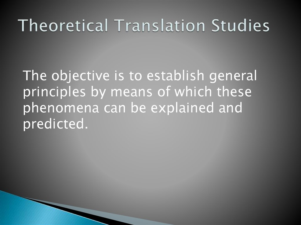 Theoretical Translation Studies