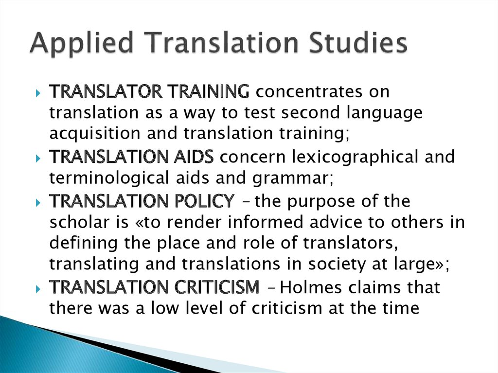 Applied Translation Studies