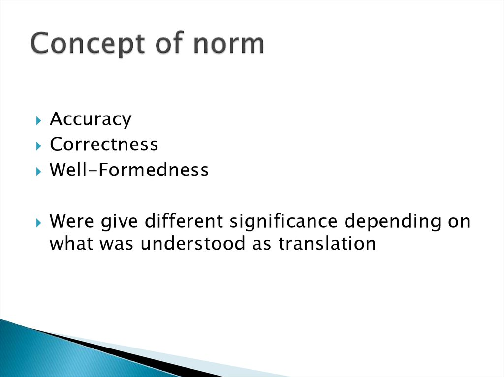 Concept of norm