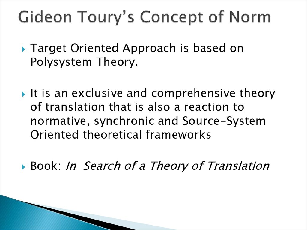 Gideon Toury's Concept of Norm