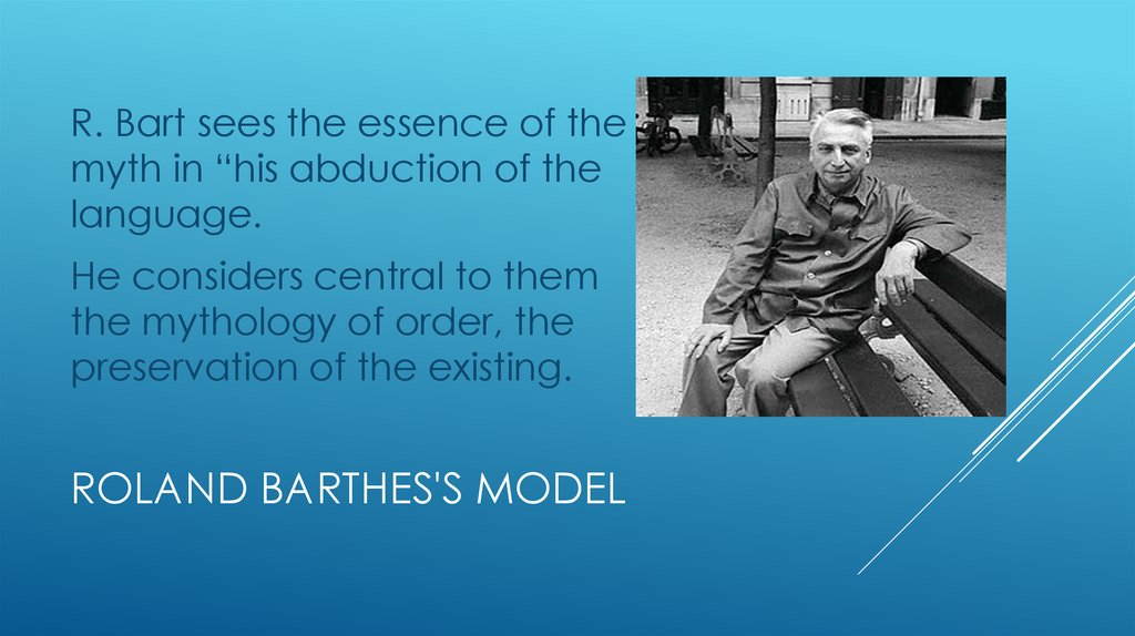 Roland Barthes's model