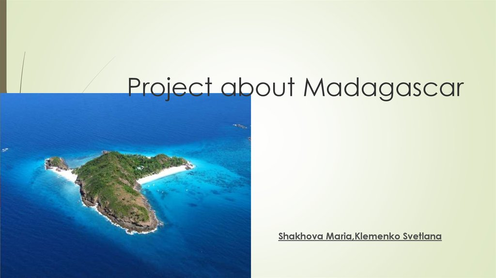 Project about Madagascar