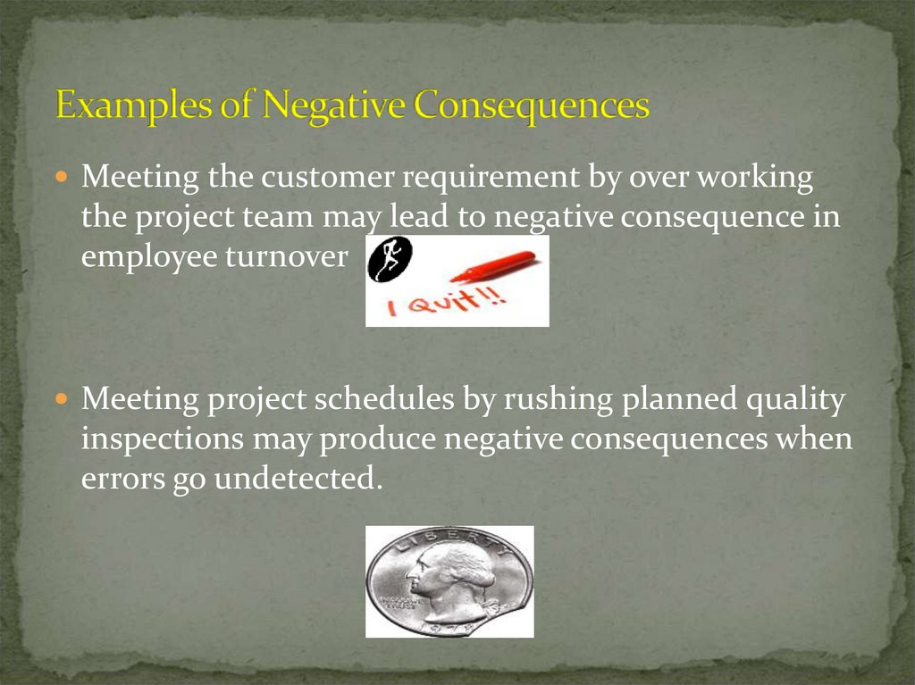 Examples of Negative Consequences